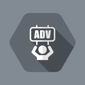 Advertising offer - Vector web icon
