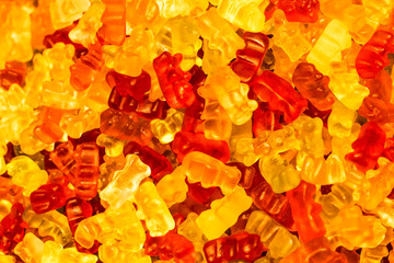 gummies in the shape of a bear. Background Texture