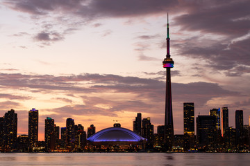 Wall Murals Toronto toronto skyline at sunset