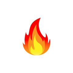 Fire. Vector illustration. Isolated.