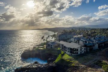 Aerial view of Poipu, Koloa, Kauai Fotomurales
