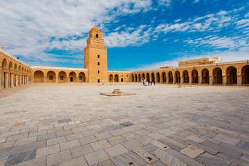 Mosque in Tunisia Kairouan on a sunny day