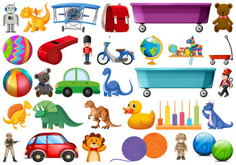 Set of children toys