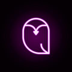 owl neon icon. Elements of autumn set. Simple icon for websites, web design, mobile app, info graphics