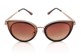 Women's sunglasses with brown lenses