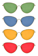 Cat's eye shape sunglasses