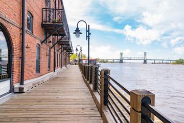 Wilmington, North Carolina Riverwalk Fototapete