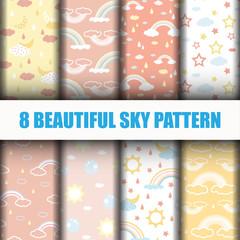 8 Sky Pattern background