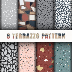 8 terrazzo pattern Background Set collection
