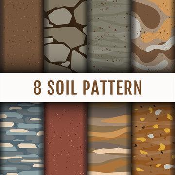 8 Soil Horizon pattern background set collection