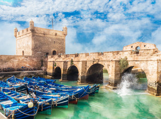 Wall Mural - Old fortress and fishing port of Essaouira, Morocco