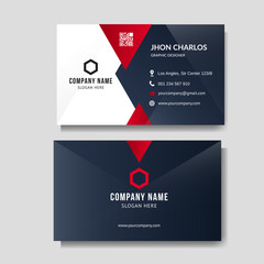 Professional red business card layout