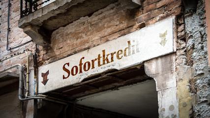 Fototapete - Schild 383 - Sofortkredit