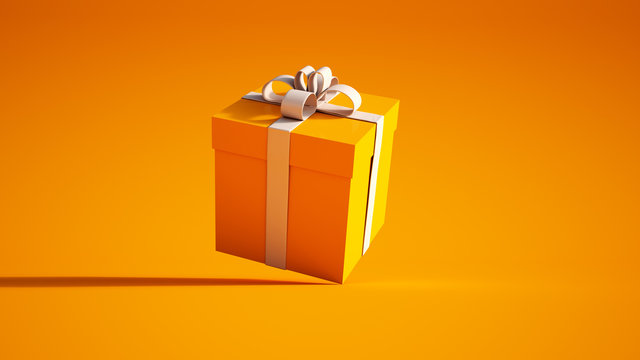 orange and white giftbox