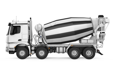 Concrete Mixer Truck Isolated