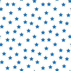 Star seamless pattern. Night, space or christmas theme. Flat vector background in black and white.