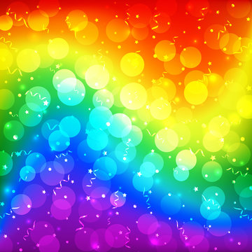 LGBT color blur bokeh festive background, rainbow colorful abstract graphic for bright design. Gay lesbian transgender gradient rainbow blurred wave background. Multicolor lgbt flag for parade