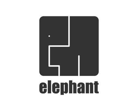 Elephant logo modern style. African animals wild zoo
