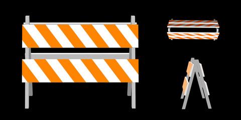 Traffic barrier. 3d Vector illustration