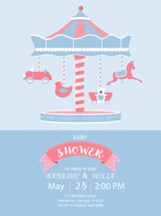 Baby shower invitation cards,birthday cards,poster,template,greeting cards,cute,toy,animal,Vector illustrations