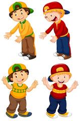 Papiers peints Jeunes enfants Set of urban boy character