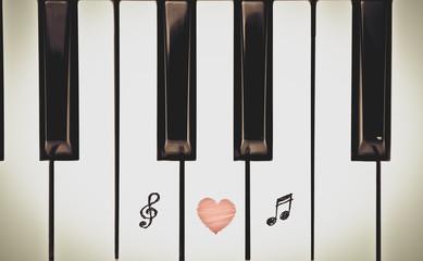 piano keys, music lover concept
