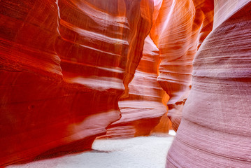 Foto op Plexiglas Rood paars Antelope Canyon is a slot canyon in the American Southwest.