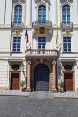 Eingang zum Erzbischöflichen Palais in Prag/Tschechische Republik