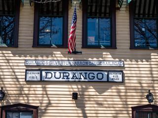 Vintage Tourist attraction Durango Colorado Train station building