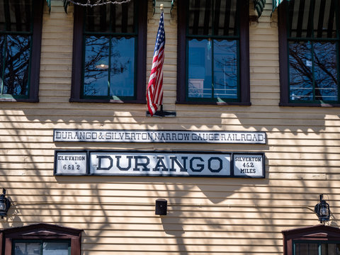 Vintage Tourist attraction Durango Colorado Train station building