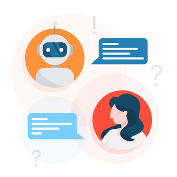 Communication with a chatbot concept