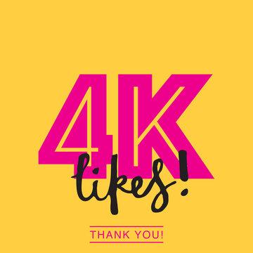 4k likes online social media thank you banner