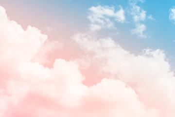 cloud background with a pastel colour Fototapete