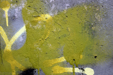 Abstract lime green and grey color  concrete wall texture