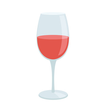 Glass of wine flat icon