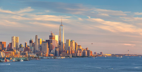 Wall Mural - New York City midtown Manhattan sunset skyline panorama view over Hudson River