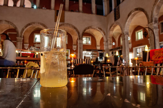 cocktail drink in luxury bar