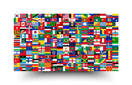 All national flags of the world . Background style .