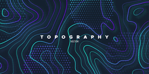 Topography relief. Wall mural