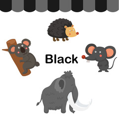 Illustration of isolated color black group vector