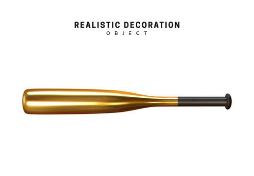 Isolated 3d object Shapes sports baseball metal bat