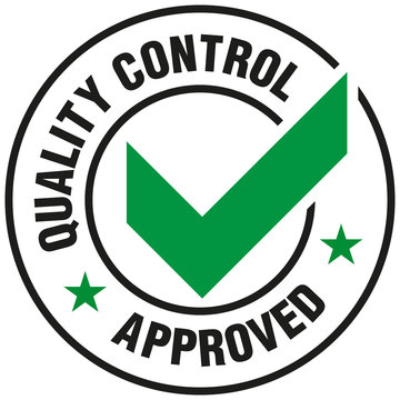 Quality Control Approved icon - Vector