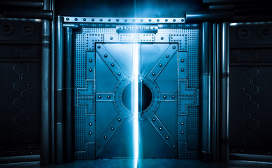 Sci-fi Scene, Spacecraft Metal Gate