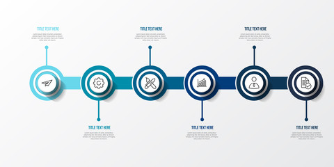 Blue infographic 3d Table vector