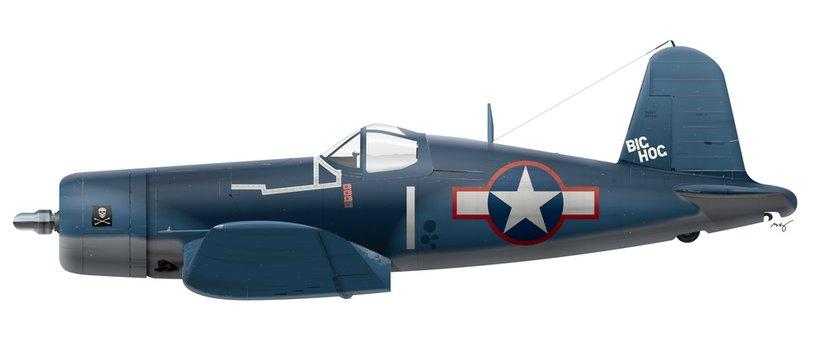 F4U-4-1A Vought Corsair - VF-17 Jolly Rogers - Big Hog 1943