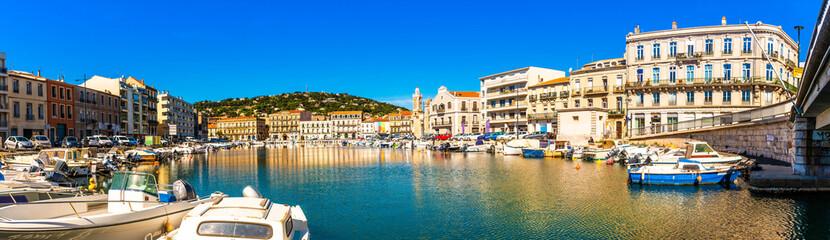 Panorama de Sète dans l'Hérault en Occitanie, France Fotomurales