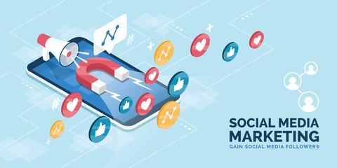 Increase followers and likes on social media