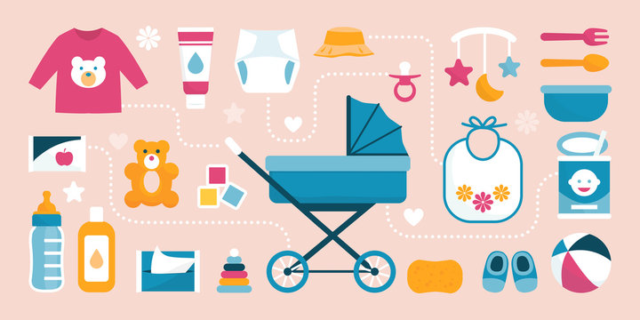 Newborn baby care and childhood items