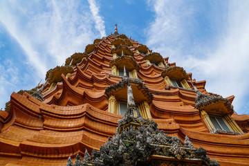 Tiger cave temple, wat tham sua, big buddha image, stupa, pagoda by mountain, Thailand