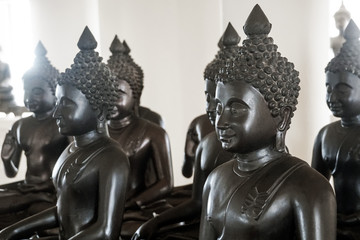 black sacred buddha image statue